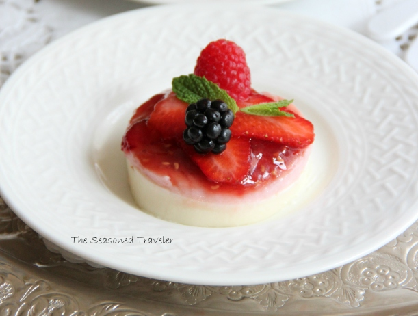 Rose, Berry & Pomegranate Panna Cotta